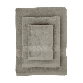 3-Piece Pura Organic Towel Set in Light Grey