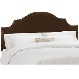 Casper Upholstered Headboard in Shantung Chocolate