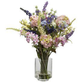Faux Lavender & Hydrangea
