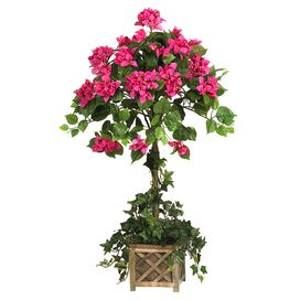 Faux Bougainvillea Tree