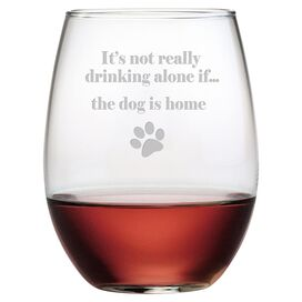 The Dog Is Home Wine Glass (Set of 4)