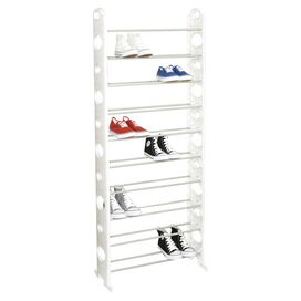 Marley 30-Pair Shoe Rack in White