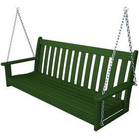Vineyard Porch Swing in Green