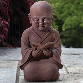 Reading Buddha Garden Statue
