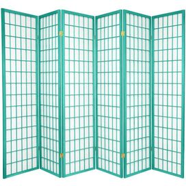 "70"" x 84"" Window Pane 6 Panel Room Divider"