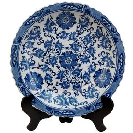 Lila Porcelain Charger Plate