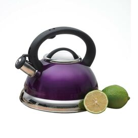 3-Quart Whistling Tea Kettle in Metallic Purple