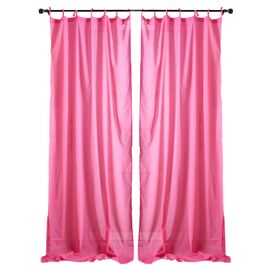 Aimee Curtain Panel in Pink