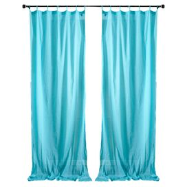 Aimee Curtain Panel in Turquoise