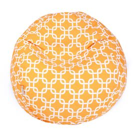 Madeline Indoor/Outdoor Beanbag in Yellow