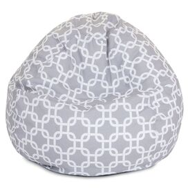 Madeline Indoor/Outdoor Beanbag in Gray