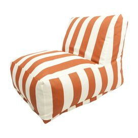Bianca Indoor/Outdoor Beanbag Chair in Burnt Orange