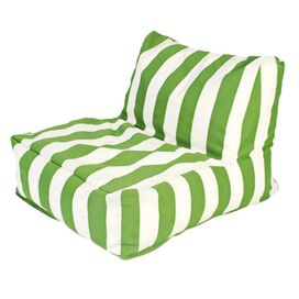 Ella Indoor/Outdoor Beanbag Chair in Green & White