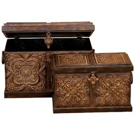2-Piece Rustico Storage Box Set