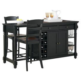 3-Piece Cohelo Kitchen Island & Barstool Set