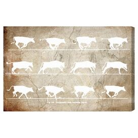 Cows in Motion Canvas Print, Oliver Gal