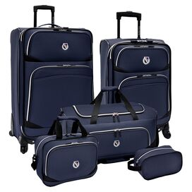 5-Piece San Vincente Rolling Luggage Set in Navy