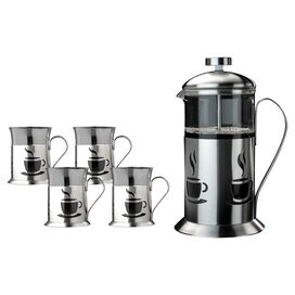 5-Piece Stainless Steel Bistro Coffee Set