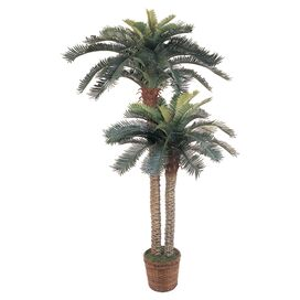 Faux Double Sago Palm Tree