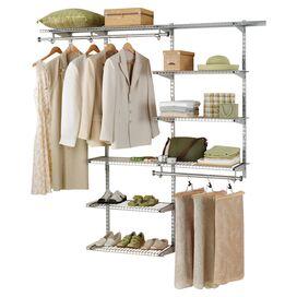Closet Organizer Kit in Titanium