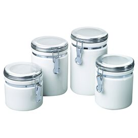 4-Piece Alyce Canister Set in White