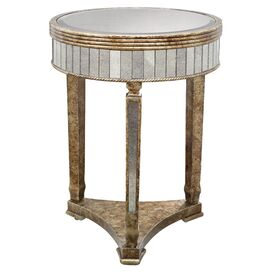 Hara Mirrored Side Table