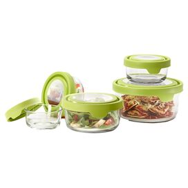 5-Piece Lidded Storage Container Set