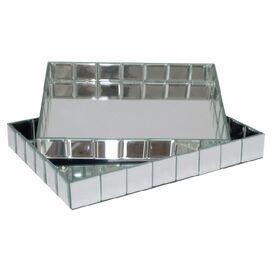 2-Piece Ellington Mirrored Tray Set