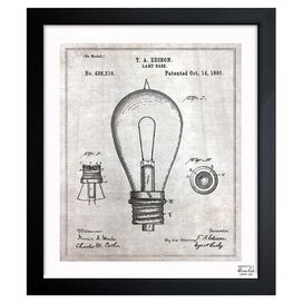 Edison Lamp Base Framed Print, Oliver Gal