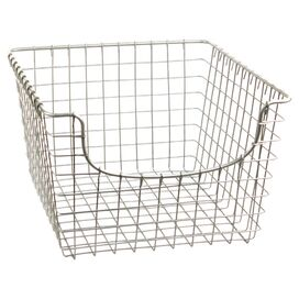 "Scoop 12"" Storage Basket in Satin Nickel"