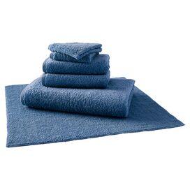 Egyptian Cotton Bath Linen Set in Denim