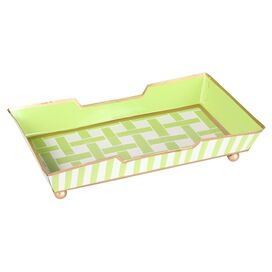 Bethany Guest Towel Tray in Green