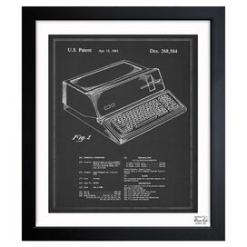 First Apple Personal Computer, 1983 Framed Canvas Print, Oliver Gal