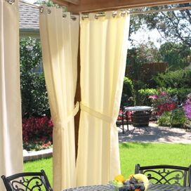 Gabrielle Indoor/Outdoor Curtain Panel in Natural