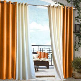 Orange Indoor/Outdoor Grommet Curtain Panel