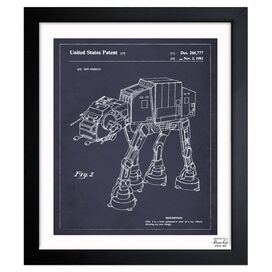 Walking Robot Framed Print, Oliver Gal