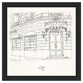 Laduree Champs Elysees Framed Print, Oliver Gal