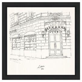 Laduree Champs Elysees Framed Print, Oliver Gal