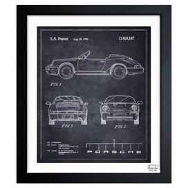 Porsche Framed Print, Oliver Gal