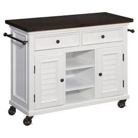 Bermuda Brushed White Kitchen Cart