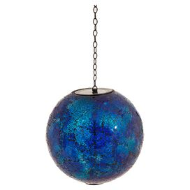 Riley Hanging Ball Decor in Blue