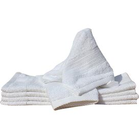 Hermosa Egyptian Cotton Washcloth in White (Set of 6)