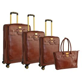 Adrienne Vittadini 4-Piece Harmon Rolling Luggage Set