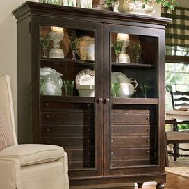 Montgomery Display Cabinet in Tobacco