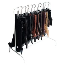 Metal Boot Rack in White