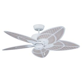 Yvonne Indoor/Outdoor Ceiling Fan in Satin White