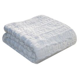 Ruffled White Throw