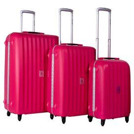 3-Piece Estella Rolling Luggage Set in Fuchsia
