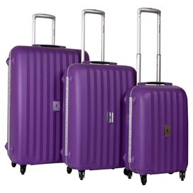 3-Piece Estella Rolling Luggage Set in Purple