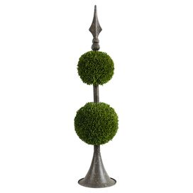 Faux Topiary Double Ball Decor